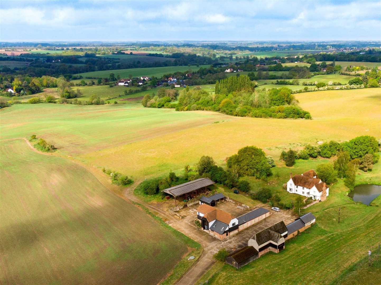 Relief d'une ferme. Image: Laurence Haslop / Cambridge Drones