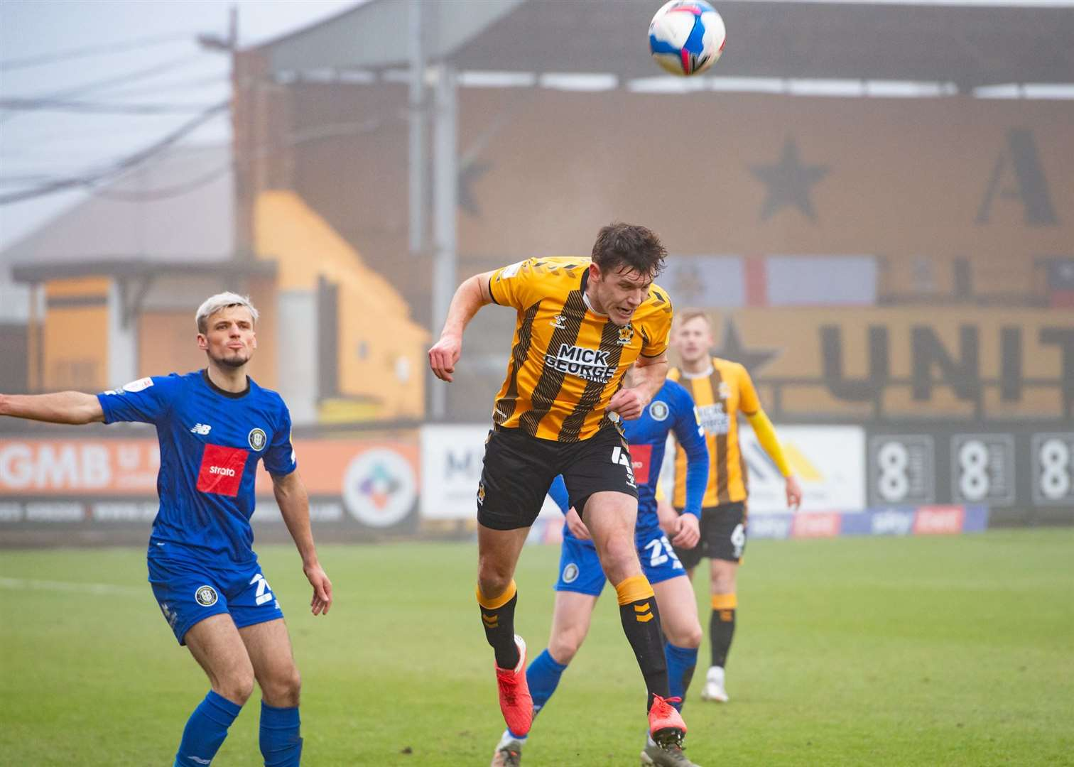 Paul Digby in action for Cambridge United against Harrogate Town. Picture: Simon Lankester (43894291)