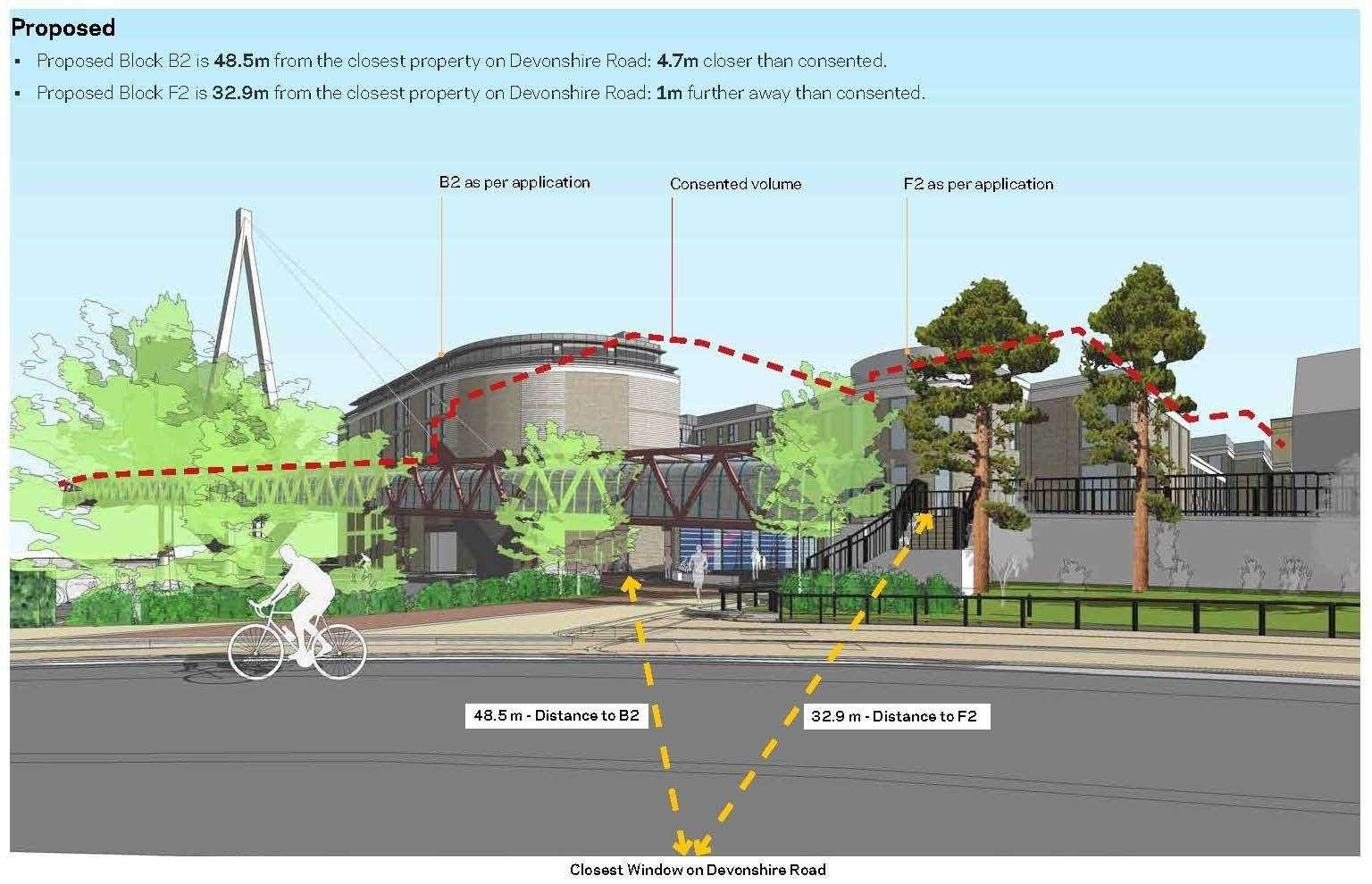 Brookgate's revised designs for the Devonshire quarter at the station. Picture: Brookgate / Bidwells (42745802)