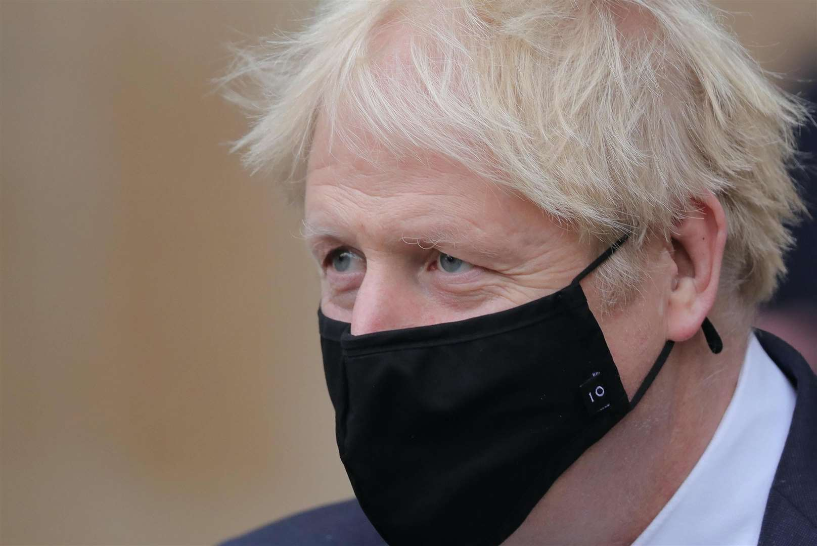 Boris Johnson, in isolation after being in contact with a positive