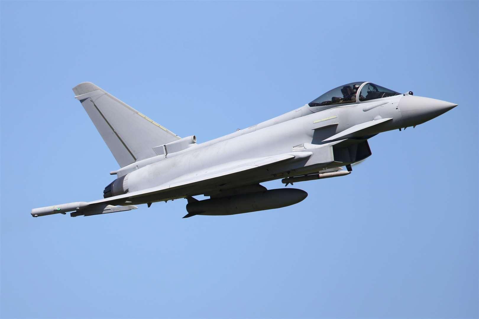 RAF fighter jets scramble to intercept a private plane over London