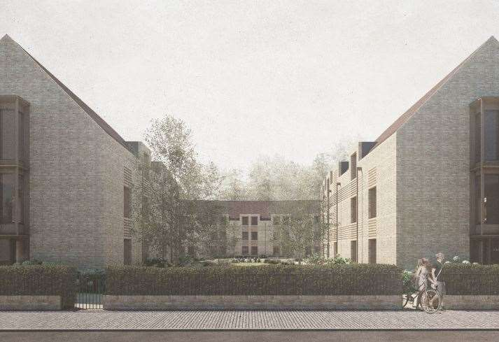 An artist's impression of the proposed development in Barton Road, Cambridge. Image: King's College Cambridge/Faithful+Gould/FCBStudios (12033155)