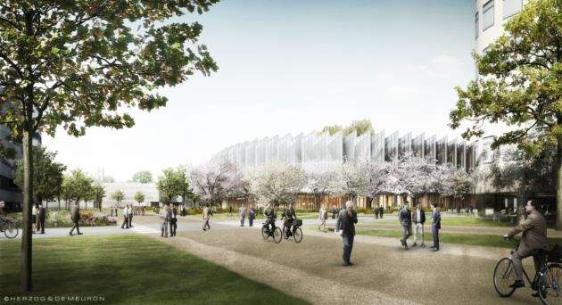 Concept drawing of AstraZeneca at Cambridge Biomedical Campus