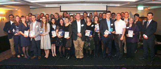 The winners and highly commended finalists at the Cambridge Independent Science and Technology Awards 2018, who took home trophies and copies of Peter Cowleys new book The Invested Investor. Picture: Richard Marsham