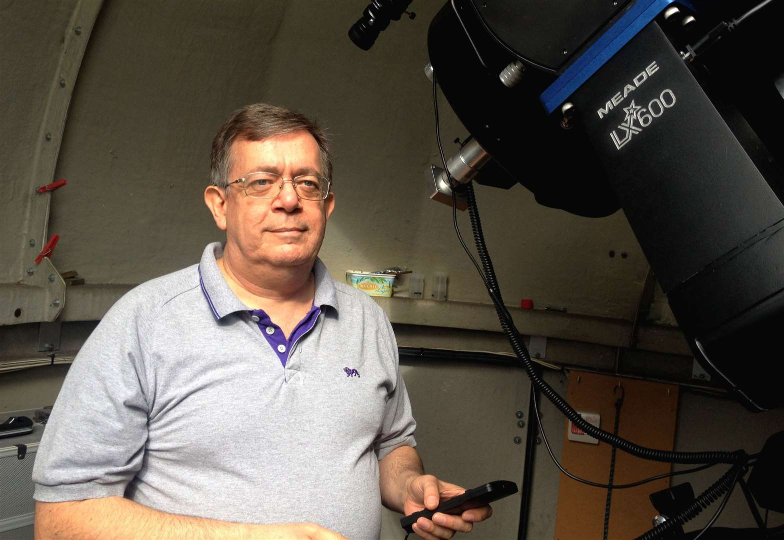 Stargazing with Cambridge Astronomical Association chairman Paul Fellows