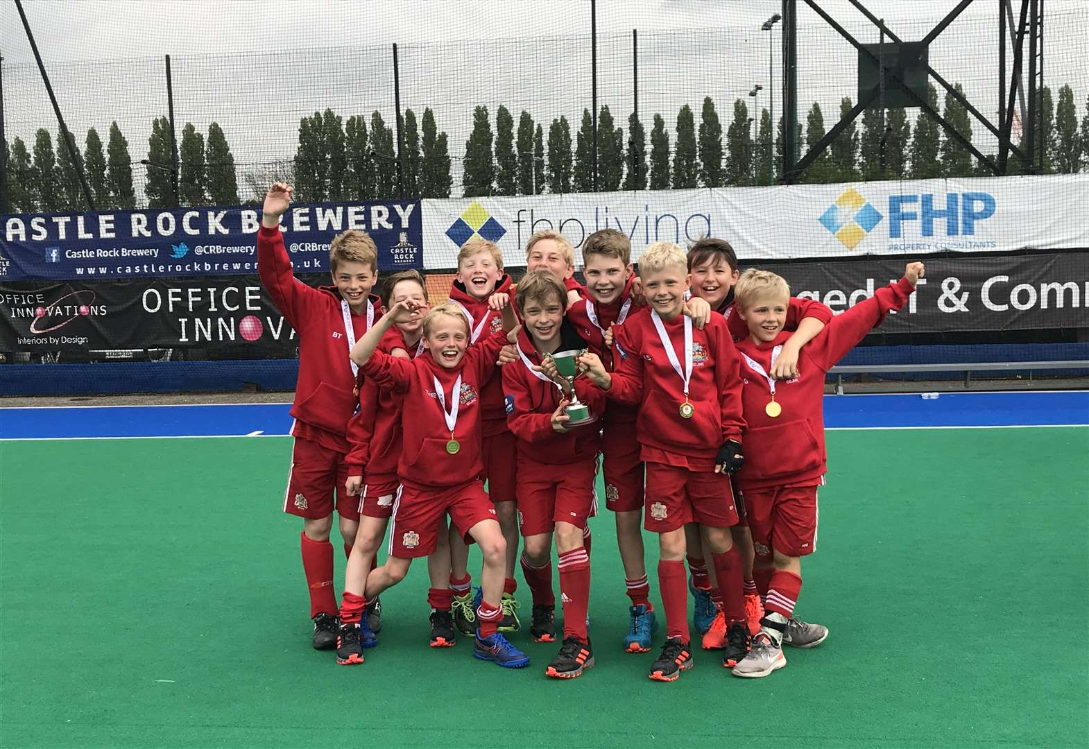All-conquering Cambridge City Junior Hockey Club under-12s are crowned national champions