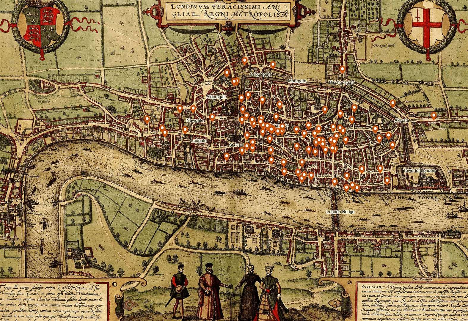 University of Cambridge criminologist creates gruesome medieval murder map of London