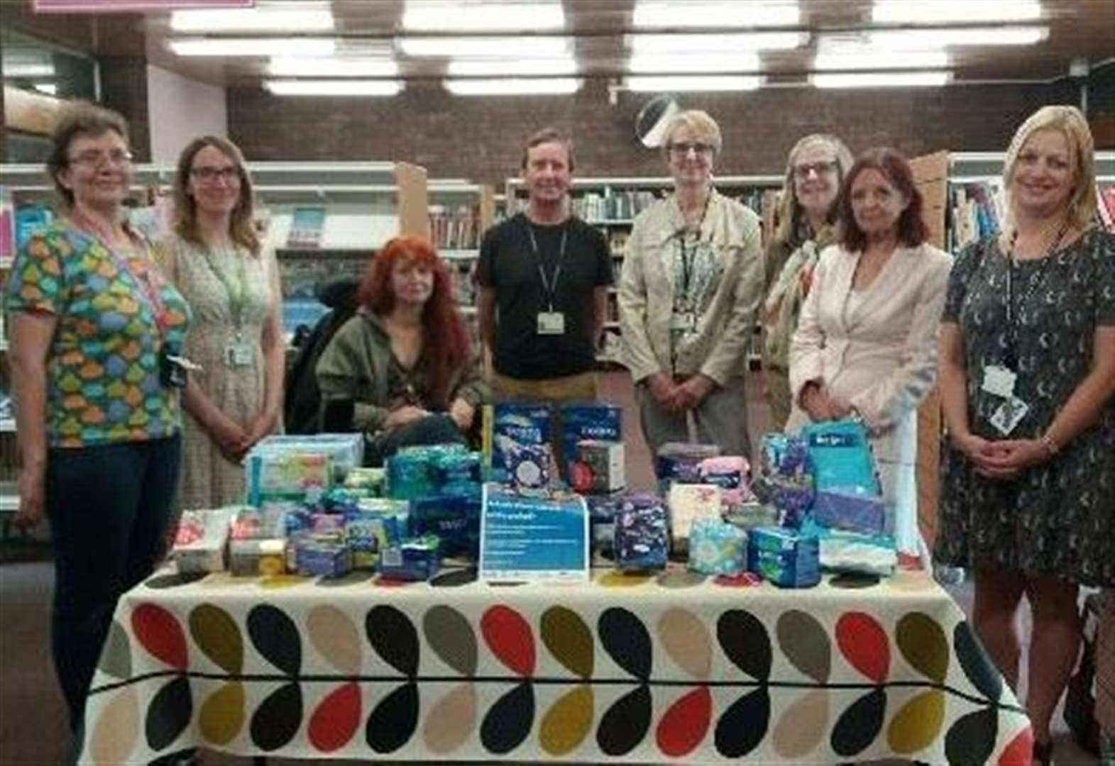 Free sanitary products available at Arbury Court library to combat 'period poverty'