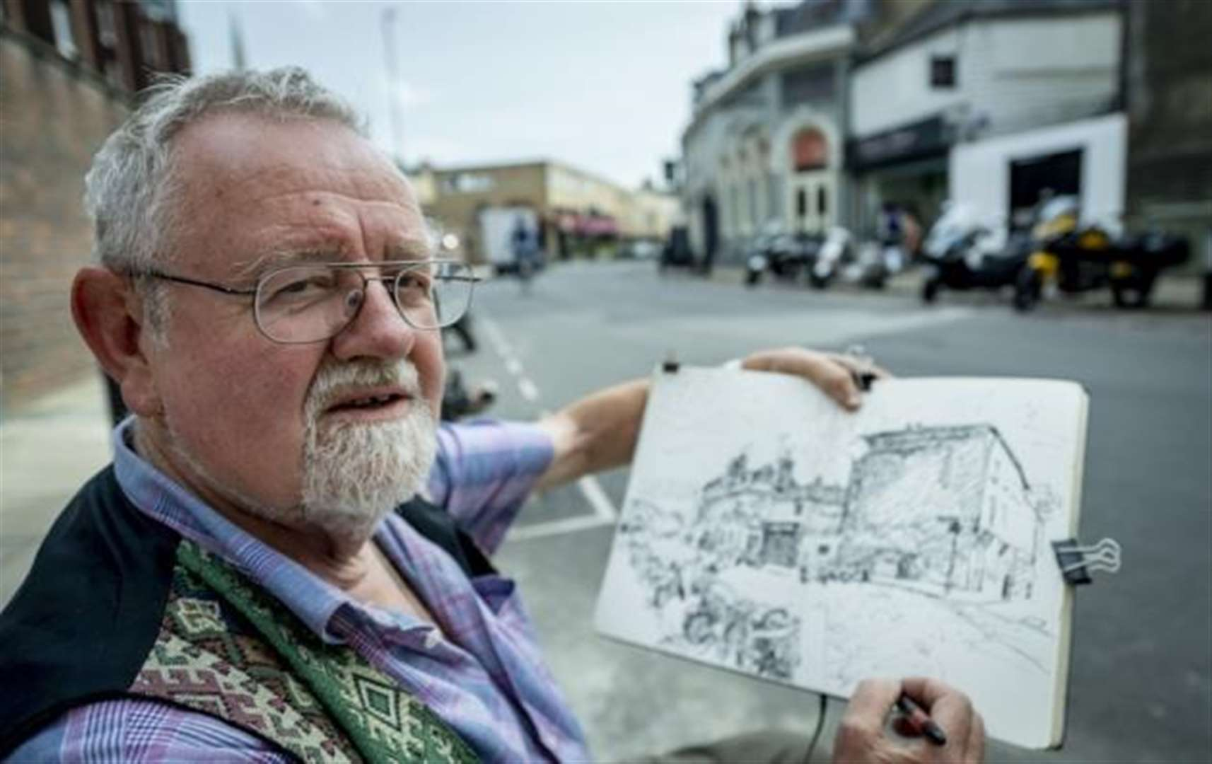 Cambridge artist Jon Harris has been documenting life in the city through art for more than 50 years