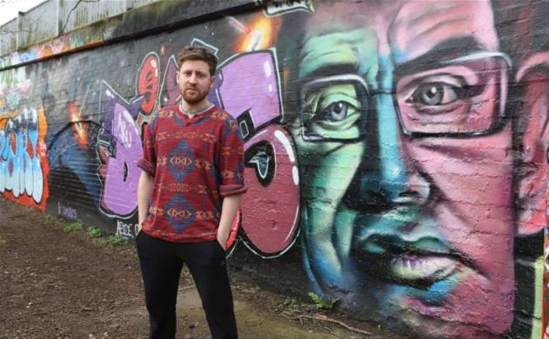Cambridge street artist Kyle Warwick discusses his Mill Road bridge tribute to Prof Stephen Hawking
