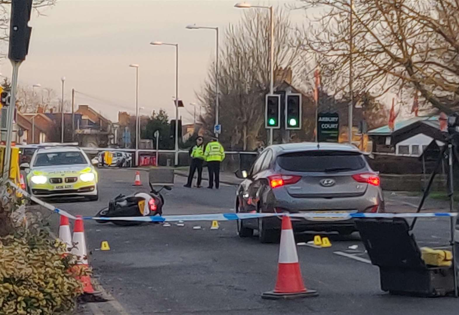 Two arrests after pedestrian dies in collision with moped in Cambridge