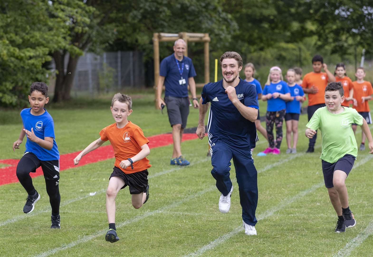 Olympic bronze medallist is special guest at Cottenham Primary School sports day