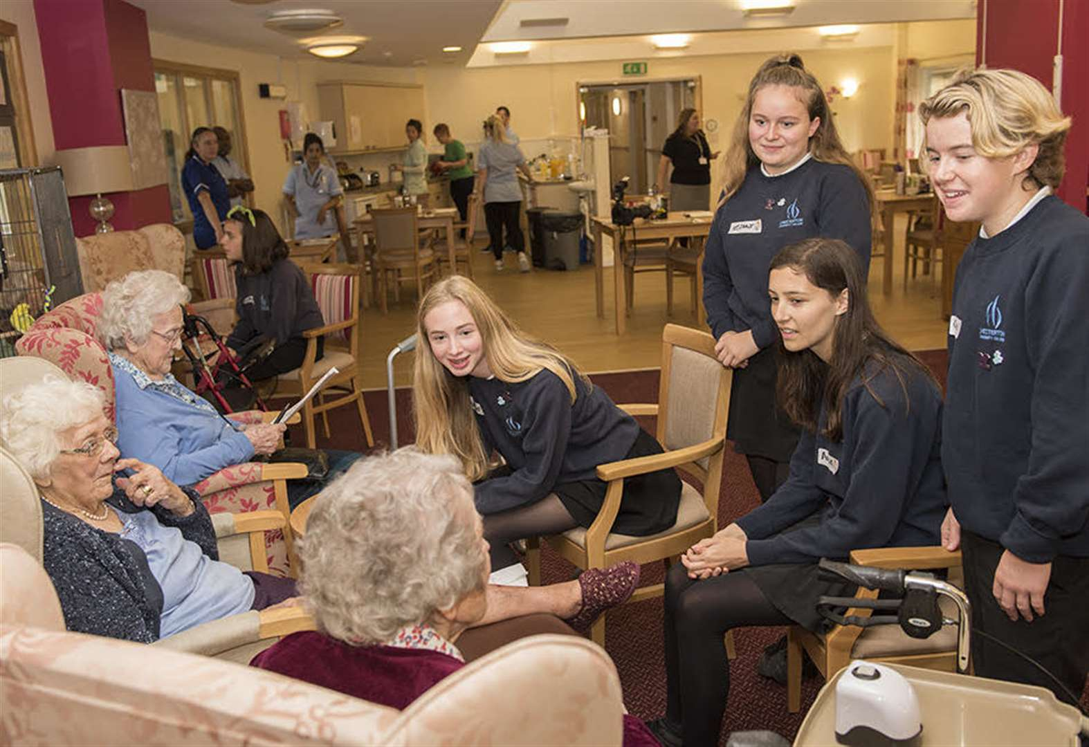 YOPEY Befriender scheme brings students together with elderly residents with dementia