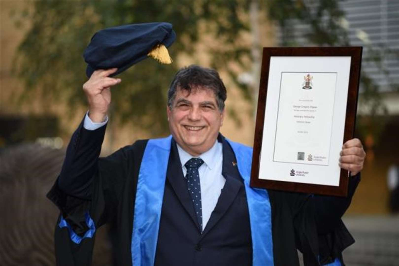 Former Mayor of Cambridge George Pippas made honourary fellow of Anglia Ruskin University