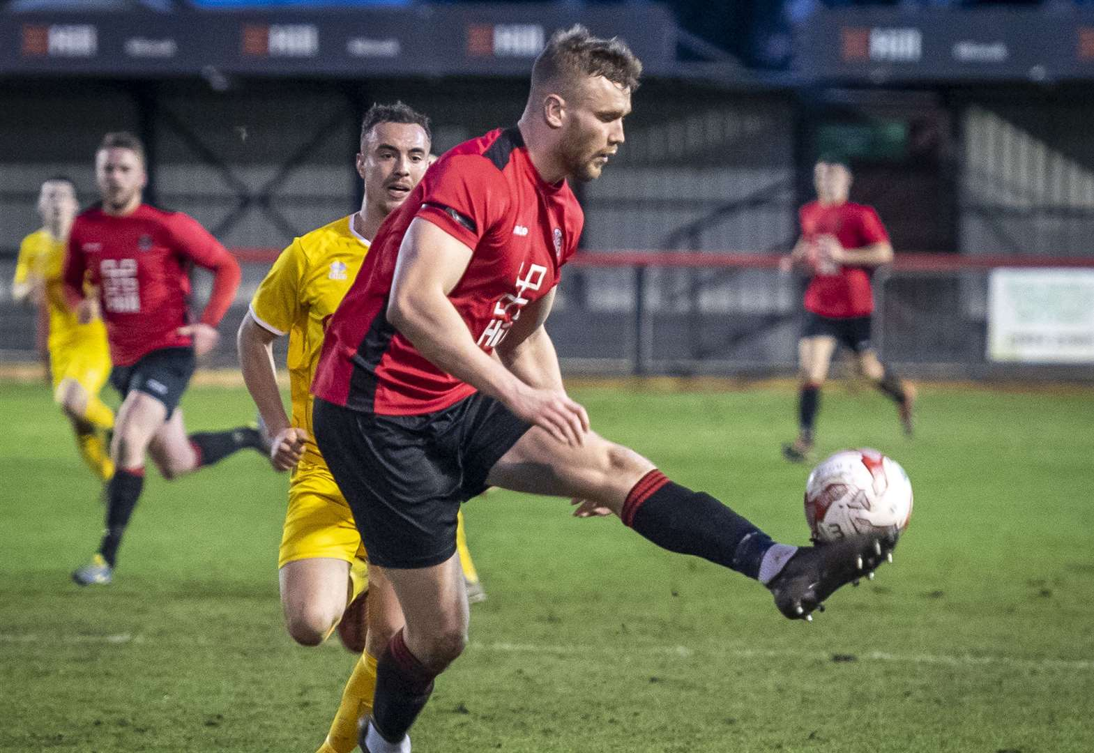 Ed Rolph heads home to earn Histon a point at Kirkley & Pakefield