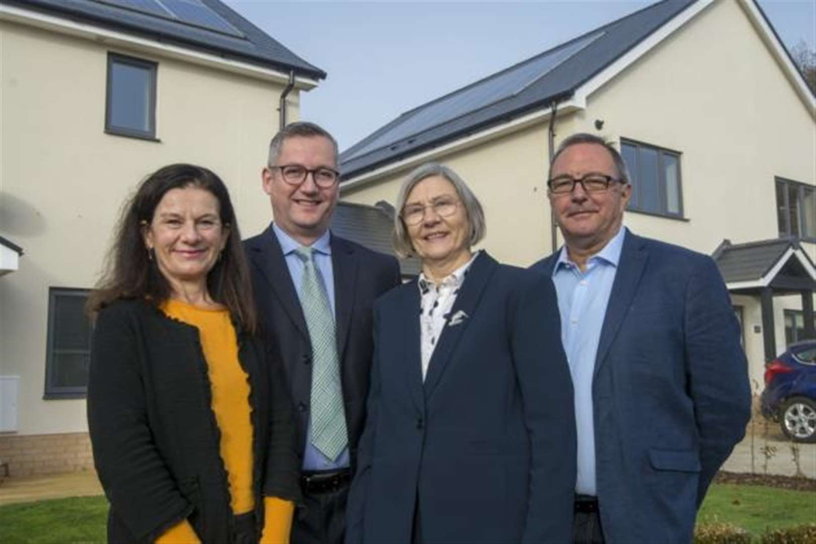 Residents move into new council homes at Cambridgeshire village