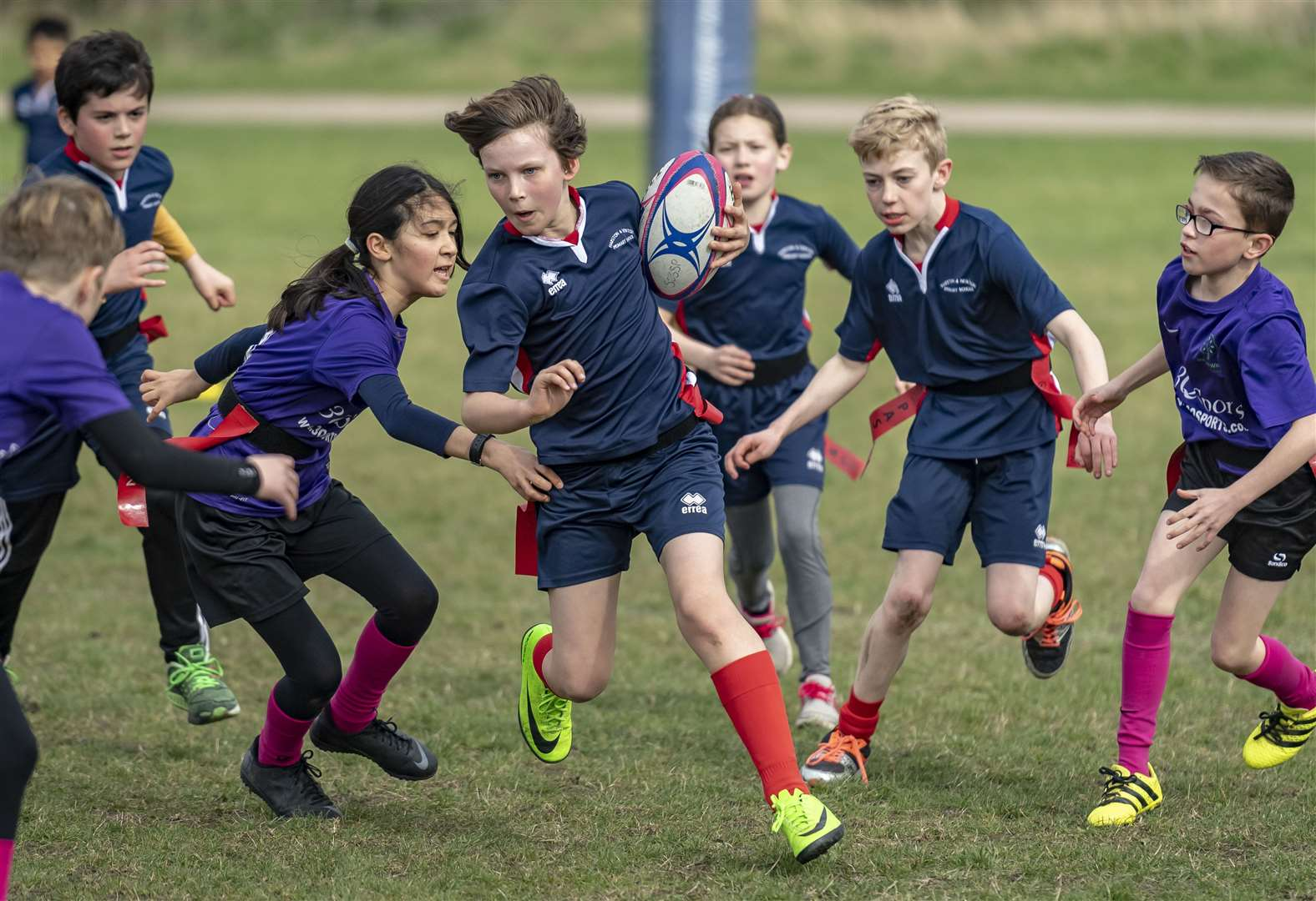 Tag team spirit on show at Cambridge at the South Cambs School Sports Partnership rugby festival