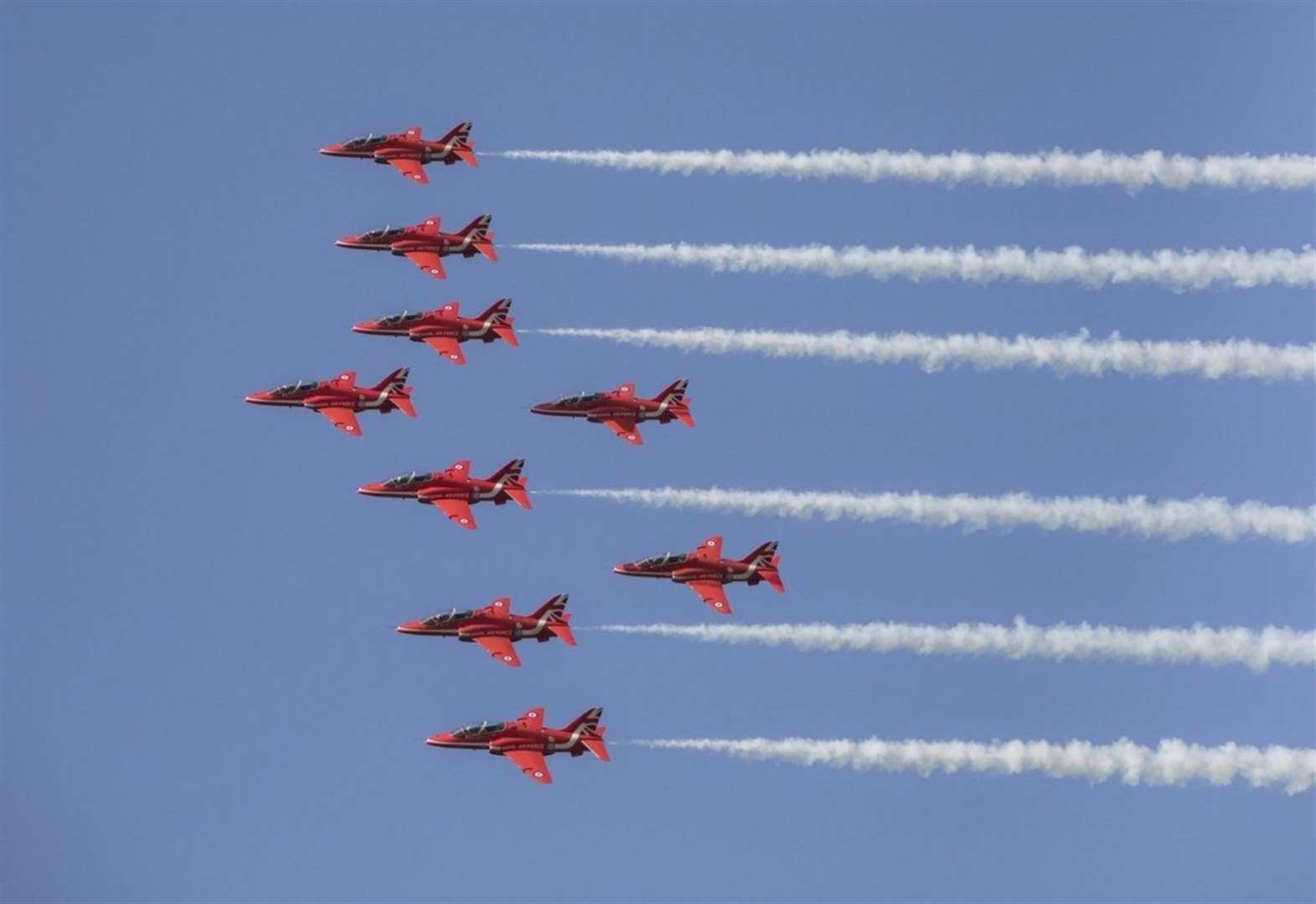 Iconic Red Arrows aerobatic display team to return to Duxford before American trip