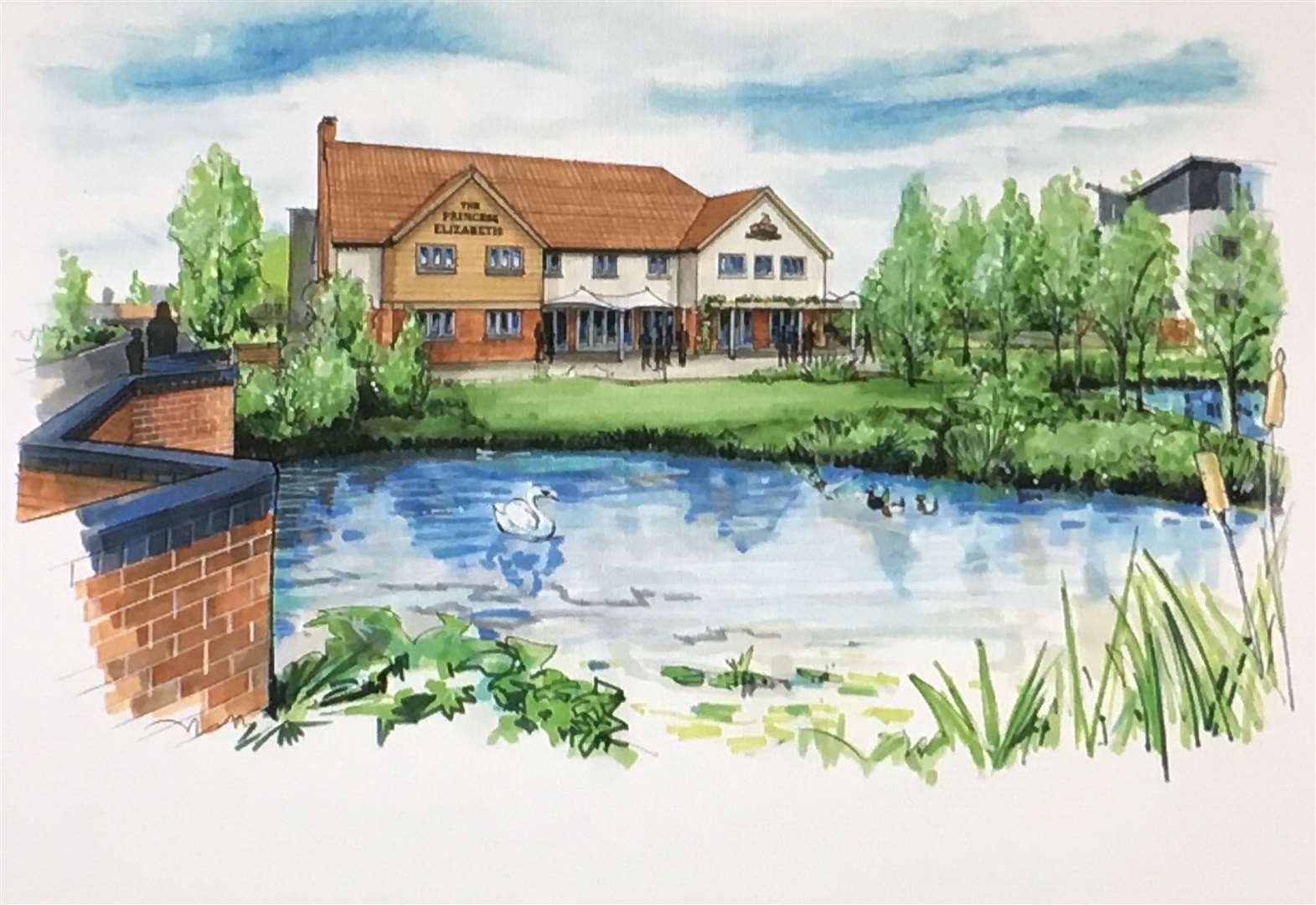 Work starts on new hotel and McMullen pub-restaurant in Cambourne