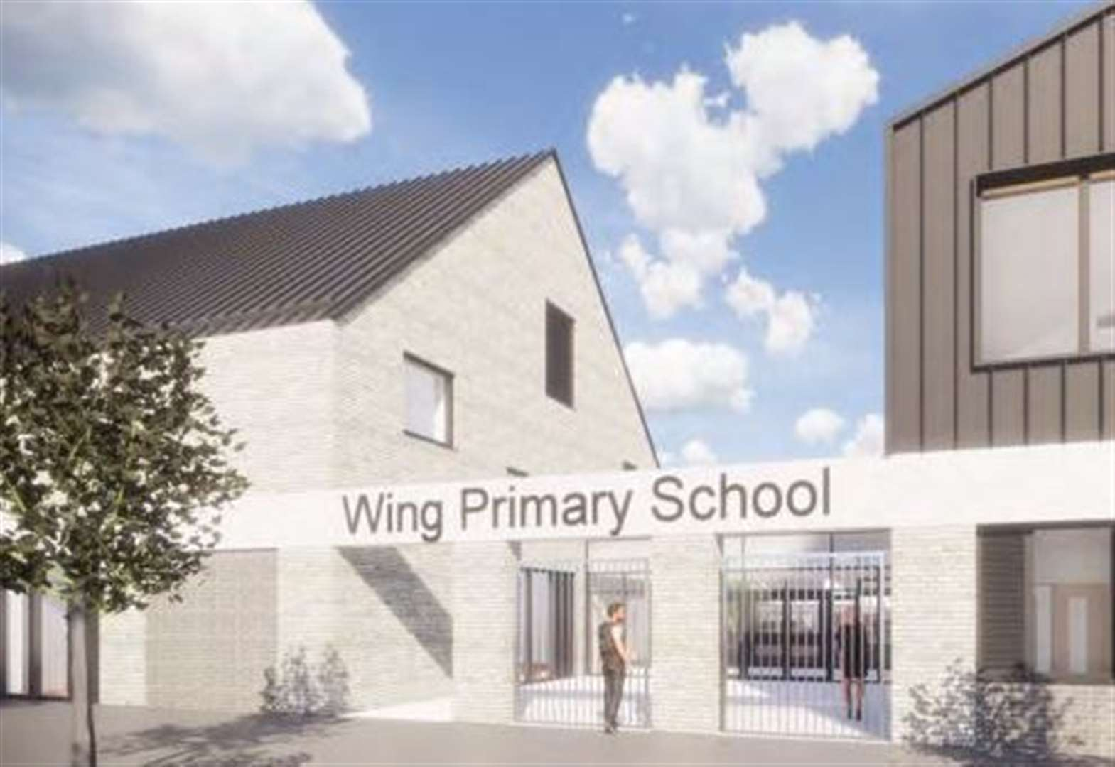 Revised plans for Wing Primary School on Marleigh development in Cambridge