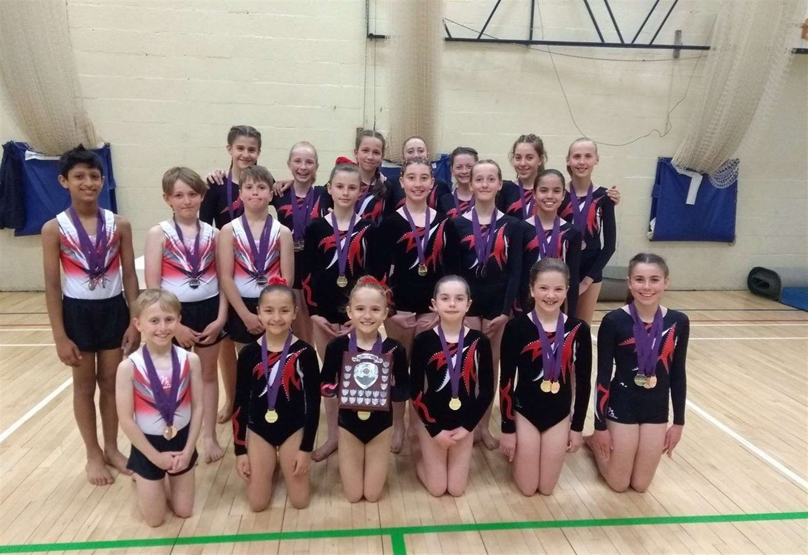Glory for St Faith's pupils at the Midlands Gymnastics Championships