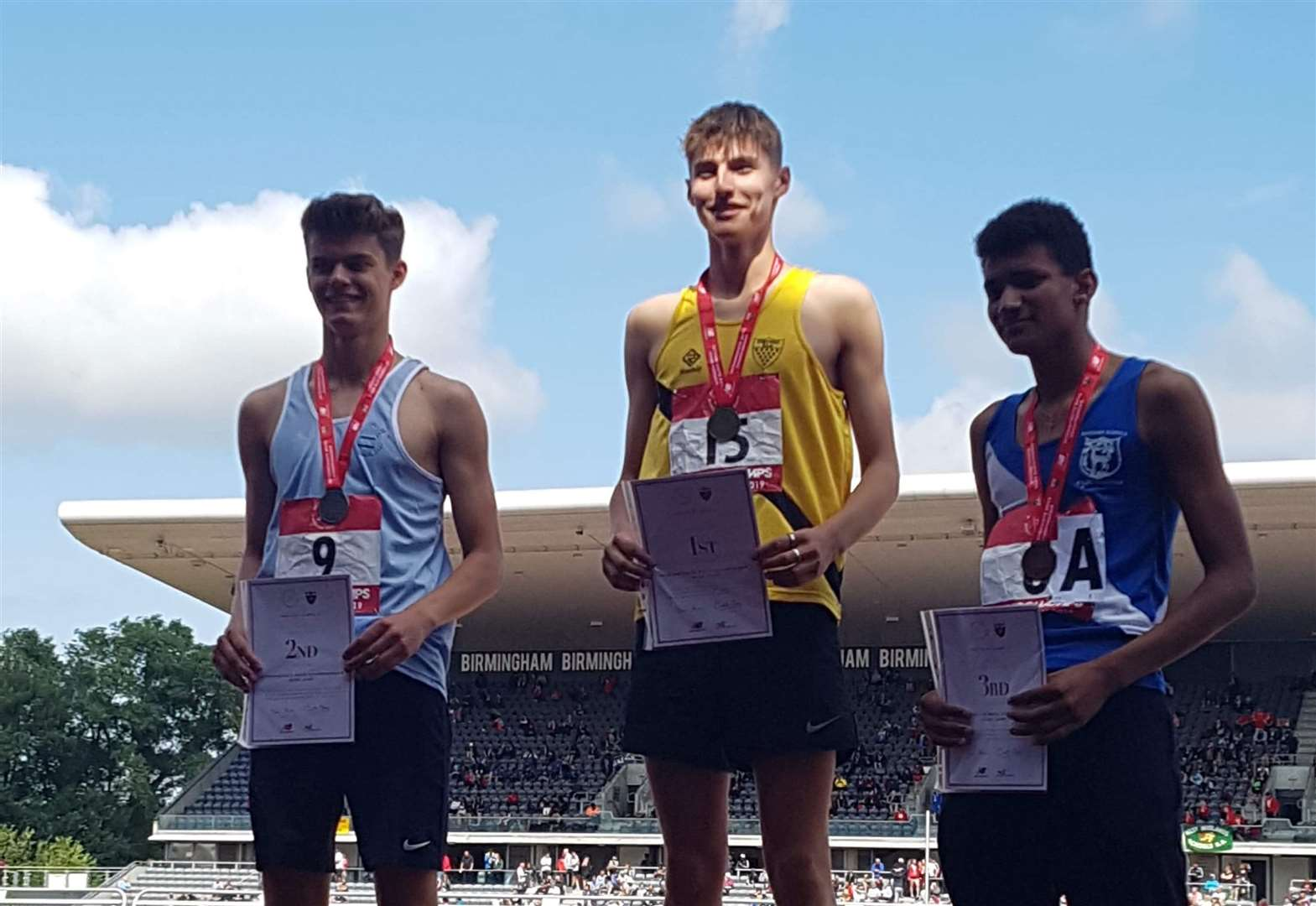 Conall McGinness leads Cambridgeshire charge at English Schools' Track & Field Championships