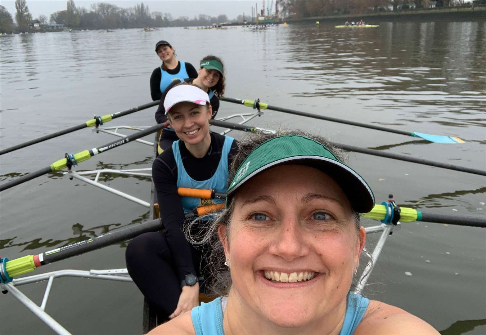 Cambridge University Women's Boat Club crew secure success at Fuller's Head of the River Fours
