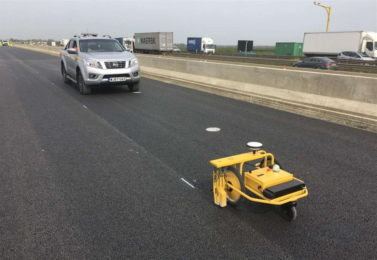 Road-marking robot adds hard drive to new A14