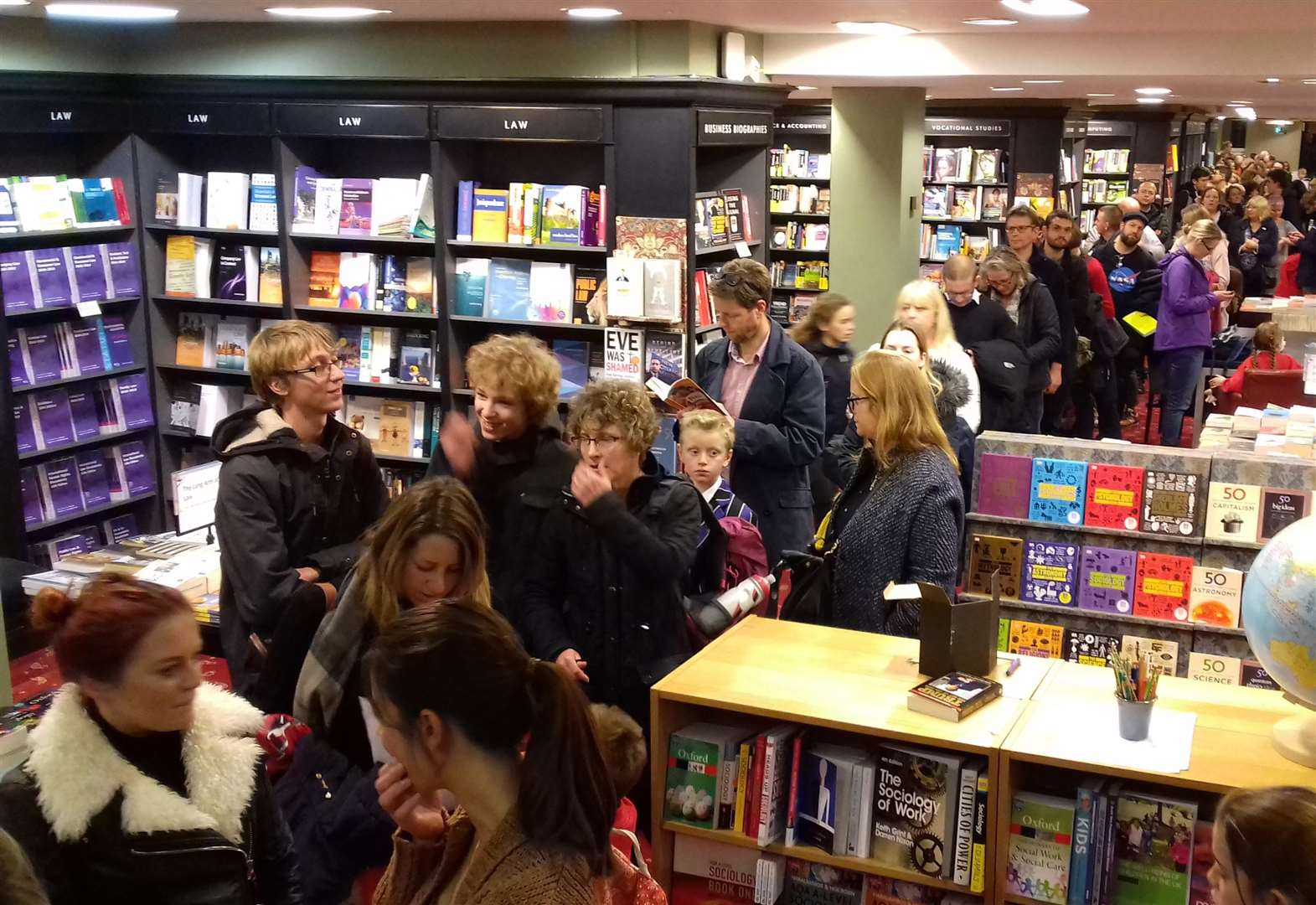 Tim Peake is star attraction at bookshop