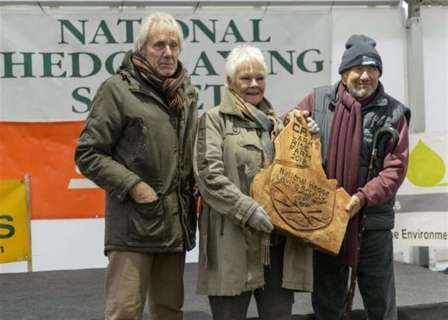 Dame Judi Dench involved in awards presentation at Cambridgeshire event