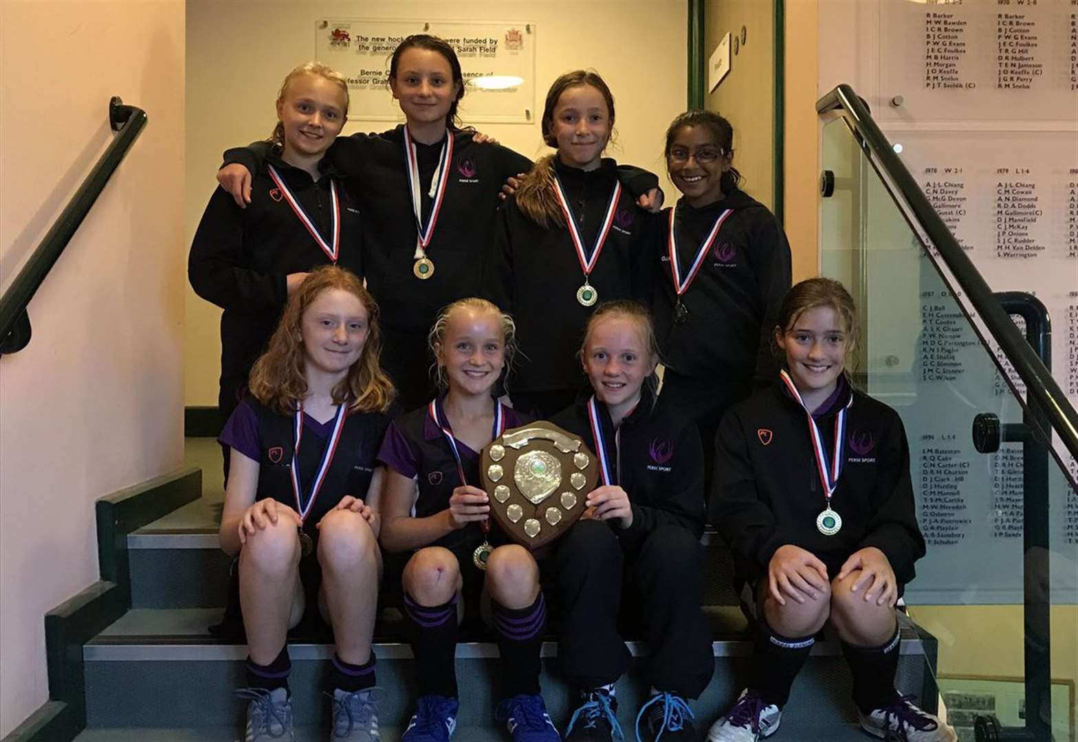 The Perse School under-12s hockey team crowned Cambridgeshire champions