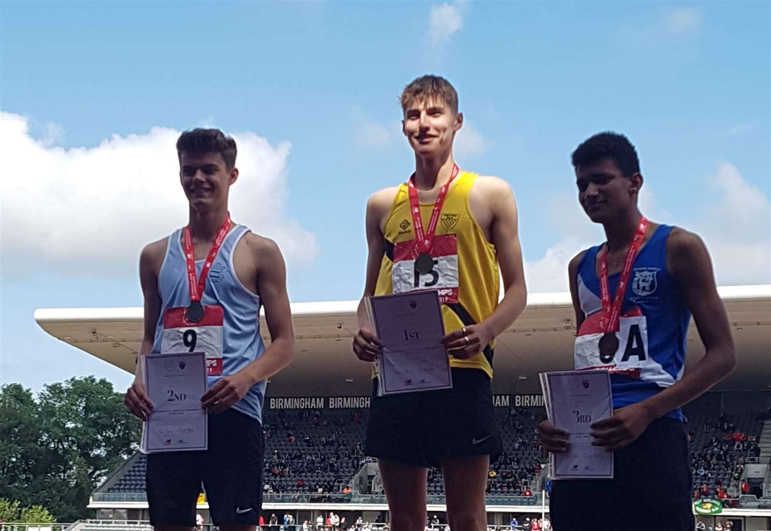 Charlie Knott and Alex Melloy in the medals representing England at SIAB International