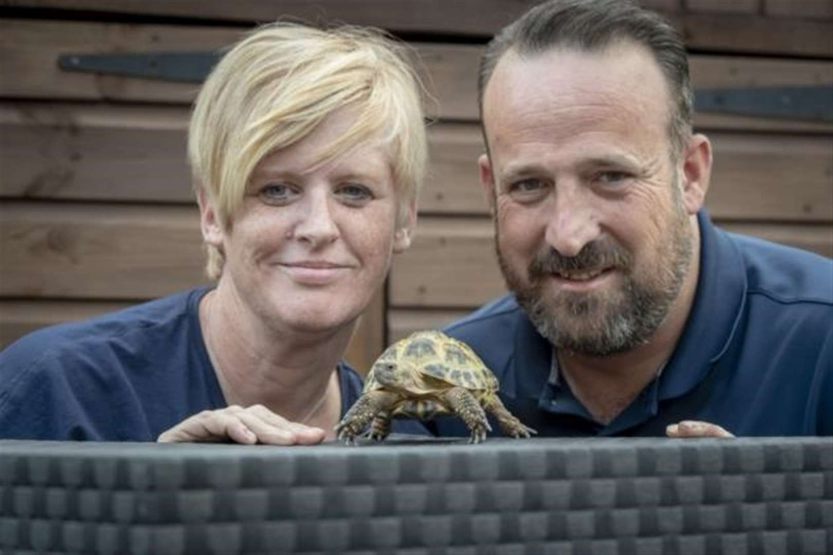 Tortoise rescued in Cambridge garden after 28 days in a drainpipe