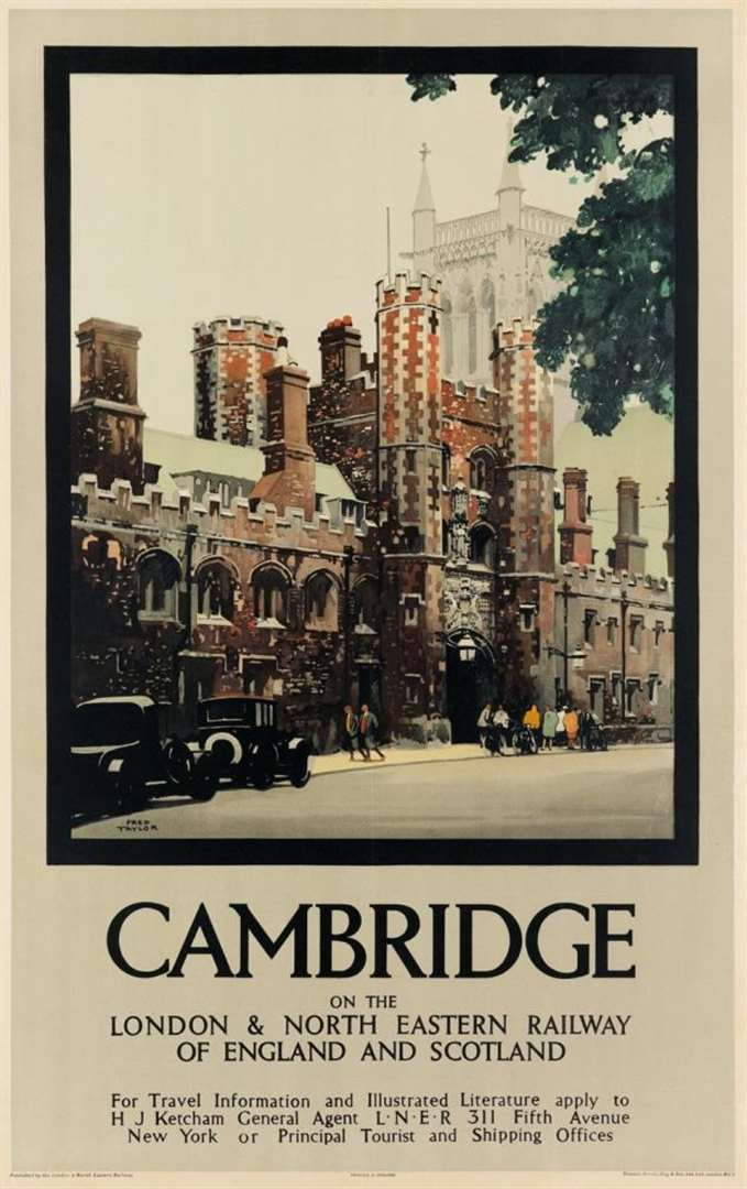 Vintage Cambridge travel poster to go on sale in the US