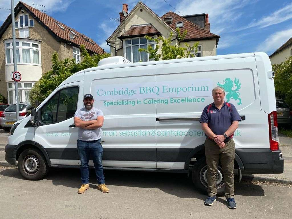 From left, Kieran Hegarty and Seb Barker of Cambridge BBQ. (34850188)