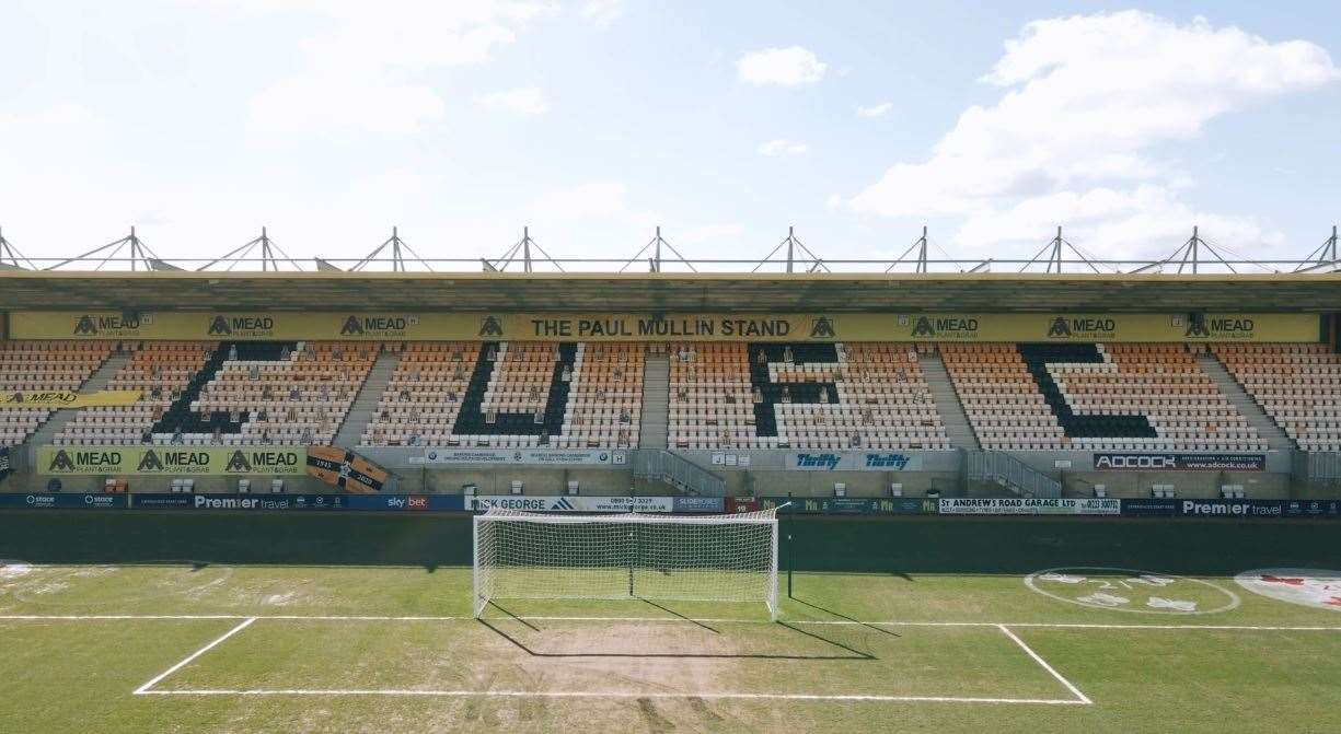 Paul Mullin has had a stand named after him at Cambridge United's Abbey Stadium after his record-breaking exploits. (45600481)