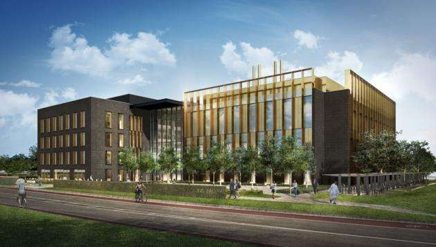 An artists impression of Abcams new HQ on Cambridge Biomedical Campus