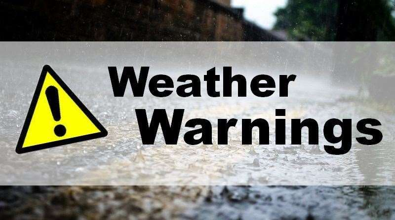 There is a severe weather warning in place across the East of England