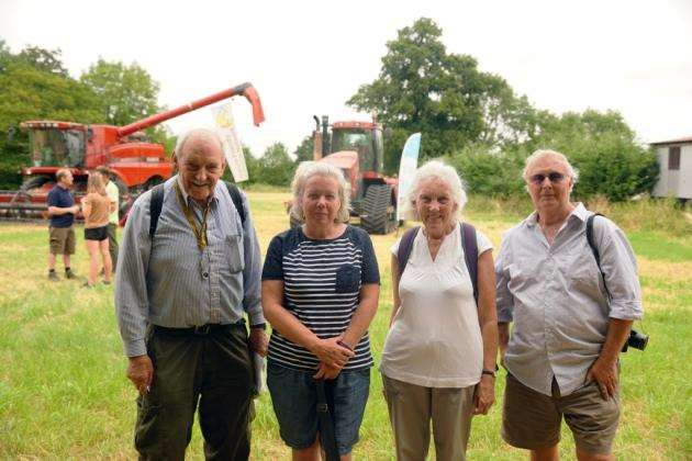 Charles Turner, Tracey Sharpe, Mary Flinders and Geoff Sewell of Eltisley History Society during Chris Packhams 2018 BioBlitz at PapleyGrove Farm in Eltisley. Picture: Paul Brackley