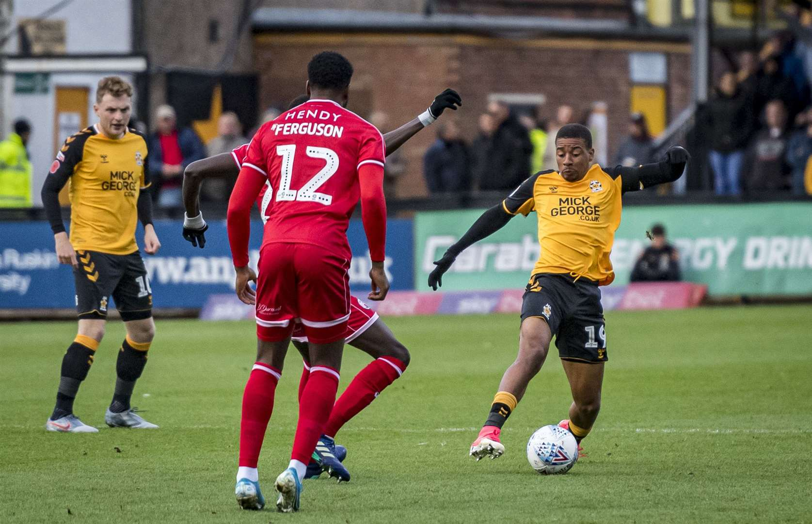 Reggie Lambe scored Cambridge United's consolation against Carlisle United. Picture: Keith Heppell