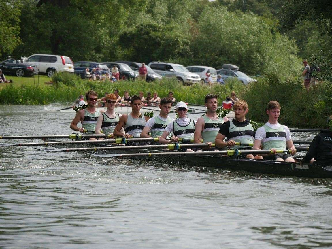 Cambridge University Boat Club cox Matthew Holland racing in the May Bumps for Caius. Picture: James Lee (8105810)