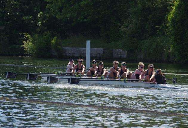 Cantabrigian Rowing Club womens eights at Henley Womens Regatta. Picture: Isabel Nimmo