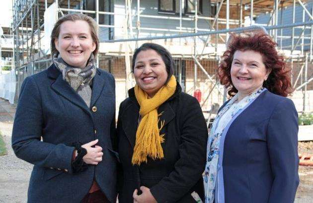 Conservative candidates for the new Cambourne ward at the 2018 South Cambs District Council elections are, from left, Ruth Betson, Shrobona Bhattacharya and Evelyne Spanner