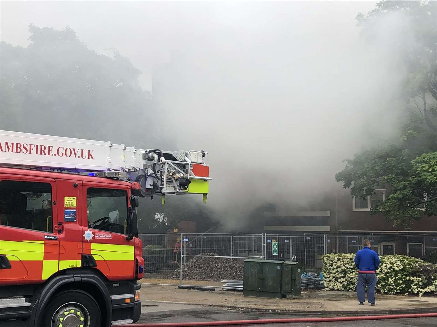 The scene of the fire at Kingsway flats in Arbury, Cambridge. Picture: Phil Rodgers (34507486)