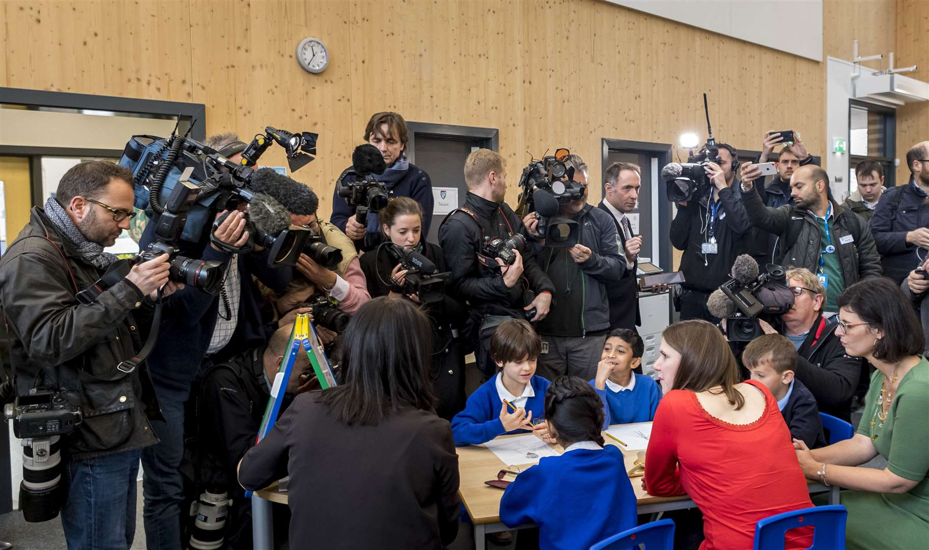 Jo Swinson, Leader of the Liberal Democrats, visits Trumpington Park Primary School. Picture: Keith Heppell. (22107243)
