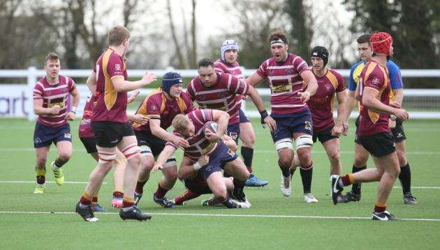 Will Lawson in action for Shelford against Towcestrians. Picture: Richard Marsham