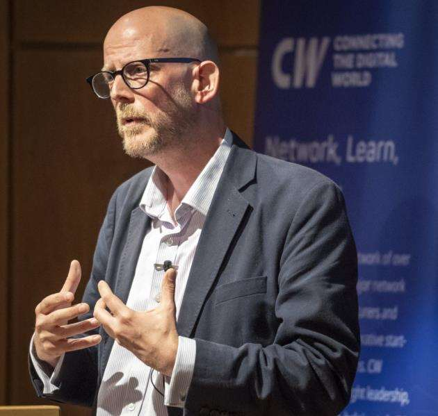 Opening talk by Matt Hatton from Gartner at CWIC. Picture: Keith Heppell