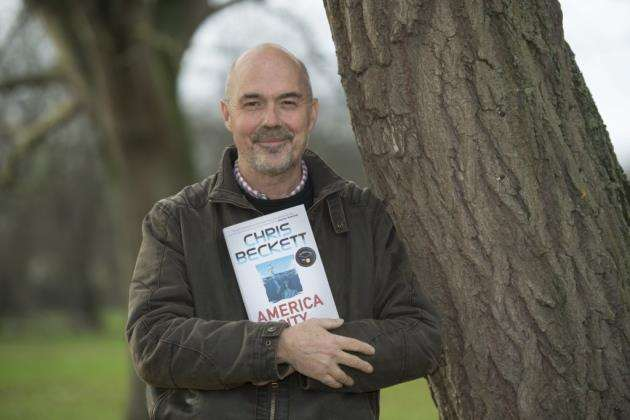 Chris Beckett with his new book America City. Picture: Keith Heppell