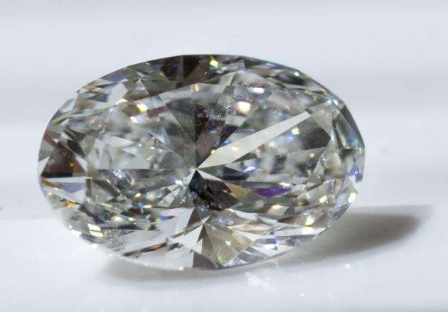The Botswana diamond on sale at Catherine Jones Jewellery. Picture: Keith Heppell