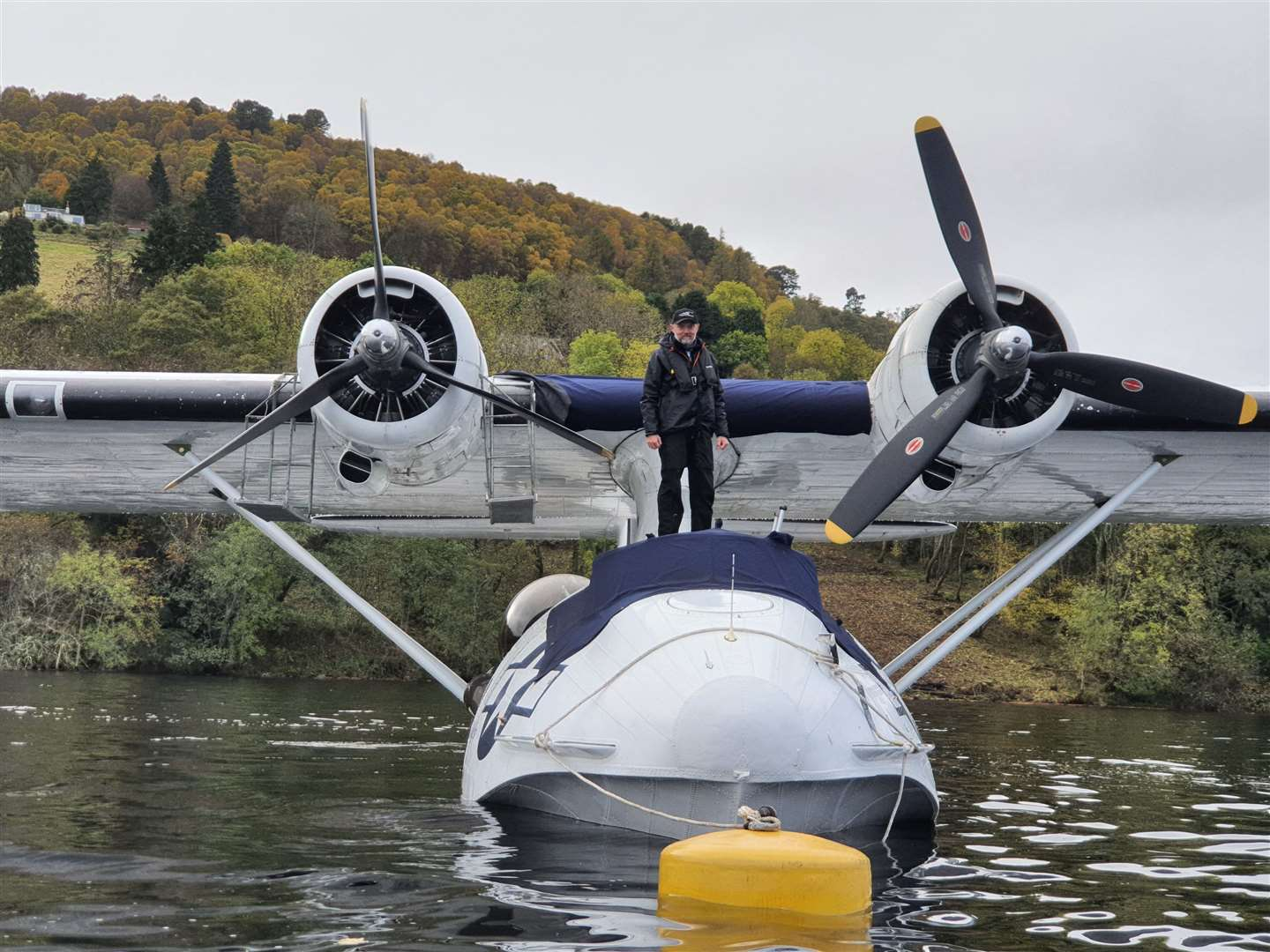 Volunteer crew member Chris Hodson and the Catalina Picture: Richard McGuinness (44208123)